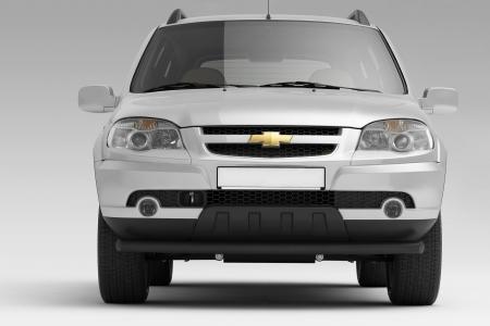 Защита переднего бампера одинарная d63мм Chevrolet Niva FL (ППК)